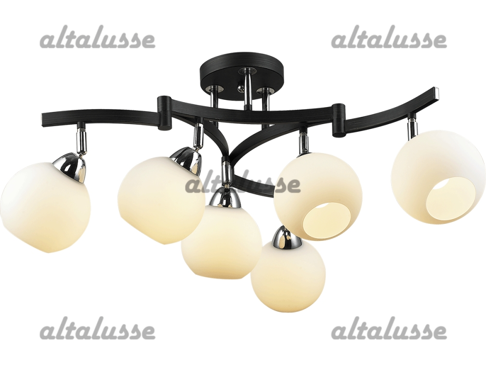 Люстра потолочная Altalusse INL-9257C-06 Chrome & Dark wengue