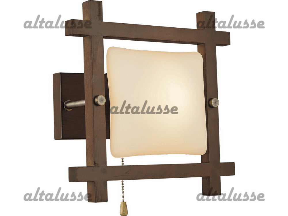 Бра Altalusse INL-3092W-01 Antique brass & Walnut