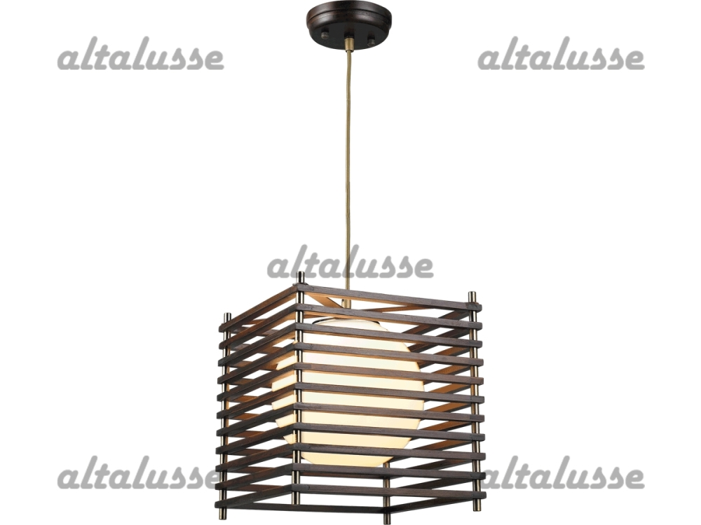 Подвес Altalusse INL-9184P-1 Antique brass & Walnut