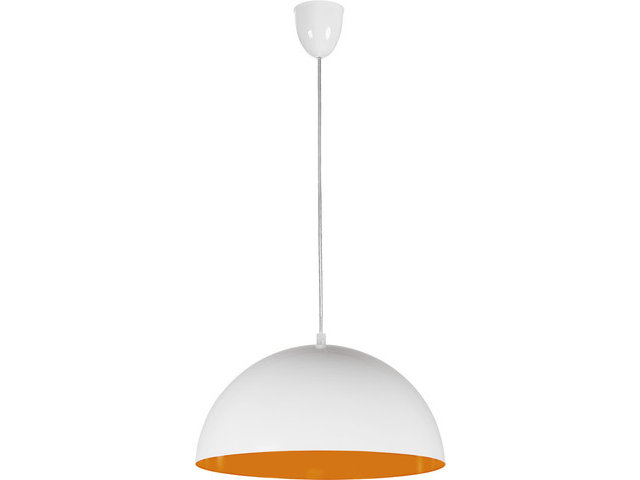 Светильник подвесной Nowodvorski 6374 Hemisphere White-Orange Fluo
