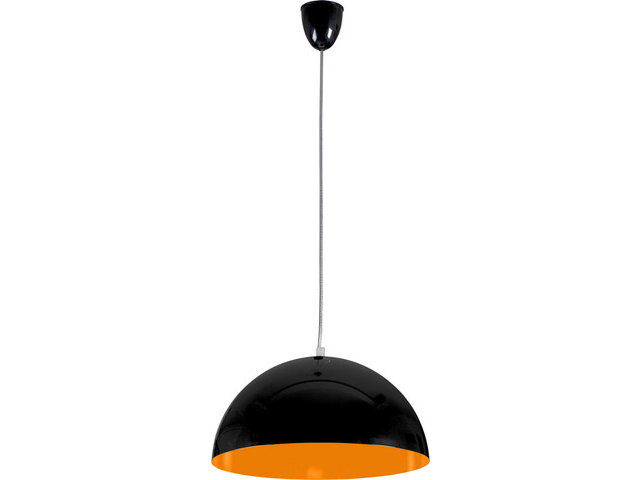 Светильник подвесной Nowodvorski 6372 Hemisphere Black-Orange Fluo