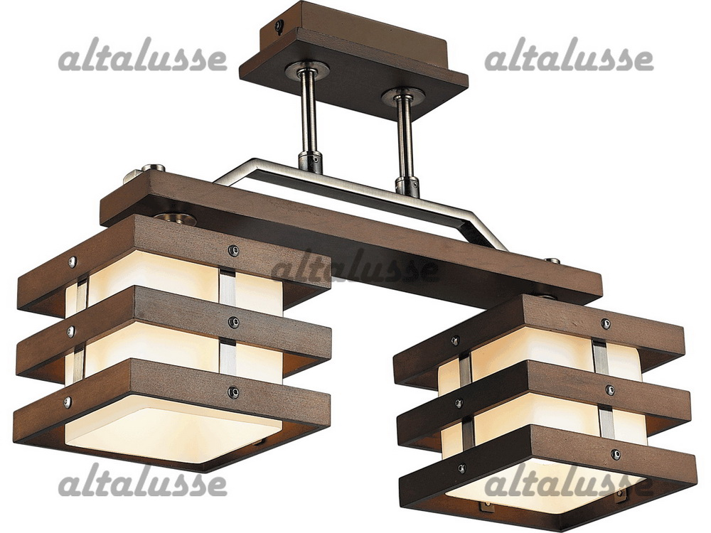 Люстра потолочная Altalusse INL-9215C-02 Antique brass & Walnut