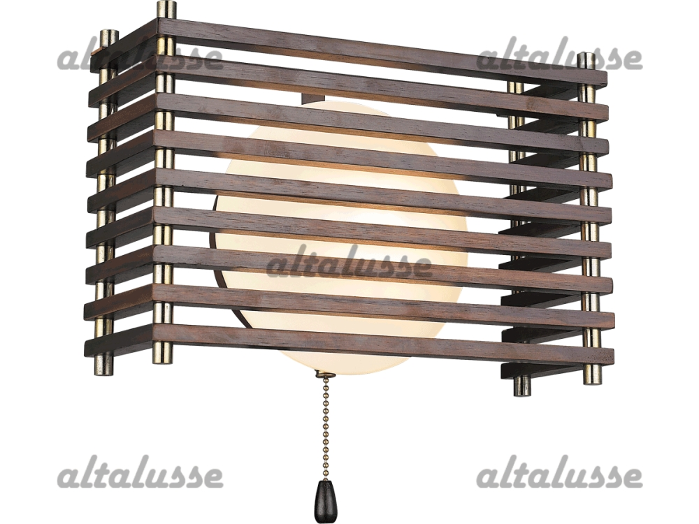 Бра Altalusse INL-9184W-1 Antique brass & Walnut