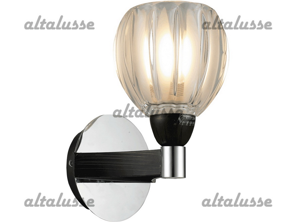 Бра Altalusse INL-9246W-01 Chrome & Dark Wengue