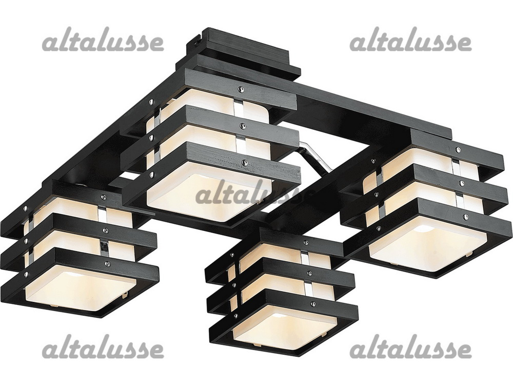 Люстра потолочная Altalusse INL-9215C-04 Chrome & Dark wengue