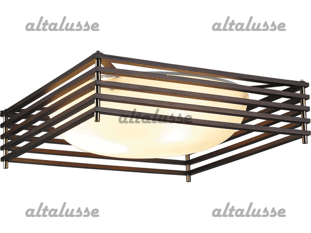 Люстра потолочная Altalusse INL-9184C-3 Antique brass & Walnut