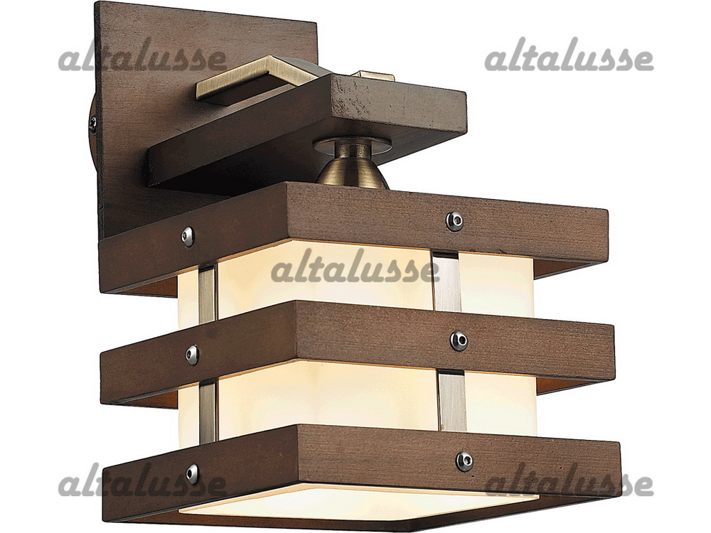 Бра Altalusse INL-9215W-01 Antique brass & Walnut