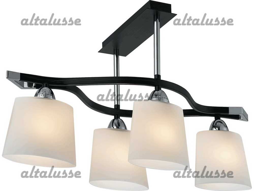 Люстра потолочная Altalusse INL-9207C-04 Chrome & Dark wengue