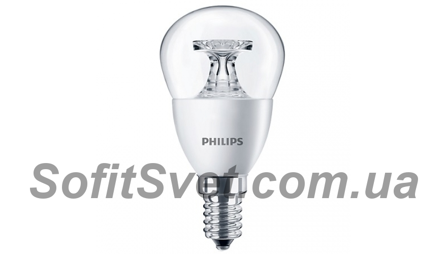 Лампа светодиодная G45 Philips LEDcandle ND E14 5.5-40W 2700K 230V P45 CL Шарик 929001142607