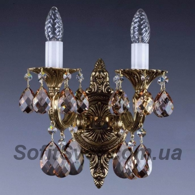 Бра хрустальное ArtGlass SARKA II. brass antique 8008 WL CL