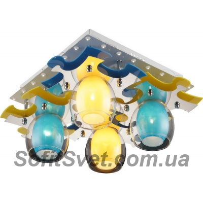 Люстра потолочная Altalusse INL-9319C-04 White & Yellow, Blue
