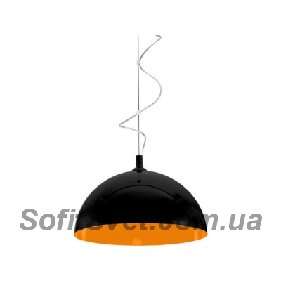 Светильник подвесной Nowodvorski 6373 Hemisphere Black-Orange Fluo