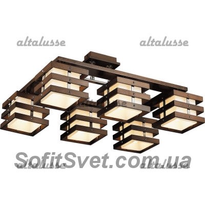 Люстра потолочная Altalusse INL-9215C-06 Antique brass & Walnut