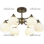 Люстра потолочная Altalusse INL-9267C-06 Antique brass & Beige