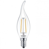 Лампа светодиодная C37 Philips LED Fila ND E14 2.3-25W 2700K 230V BA35 1CT APR Филамент Свеча на ветру 929001180307